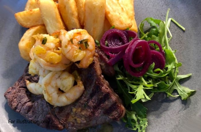 Barn Grills - Surf & Turf *New - 350g rump, 4 king prawns