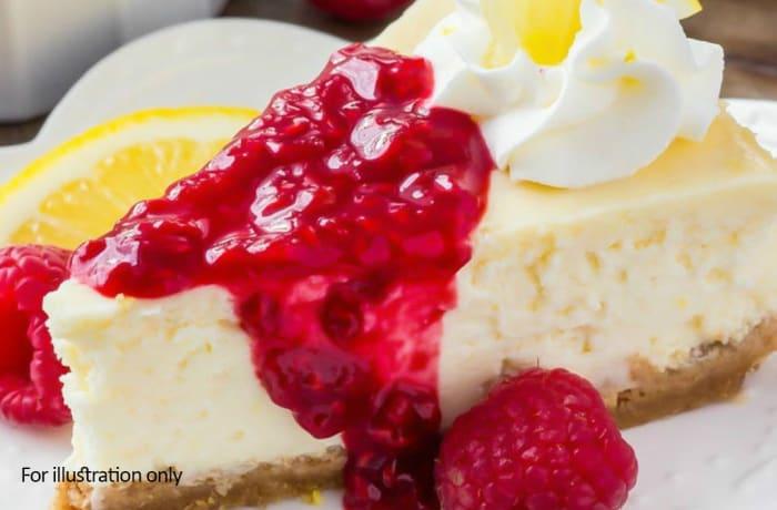 Desserts  - Raspberry & Lemon Cheese Cake