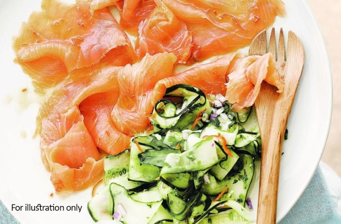 Starter Bits - Smoked Salmon with Cool Cucumber & Ginger Salsa