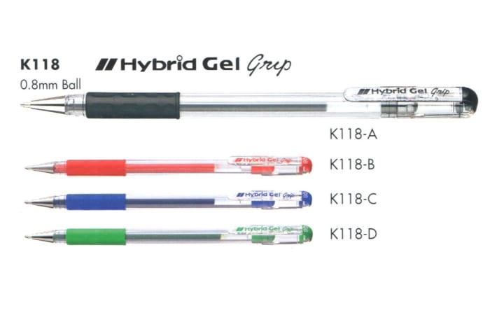 Hybrid Gel Ink Rollers - K118 Hybrid Gel Grip
