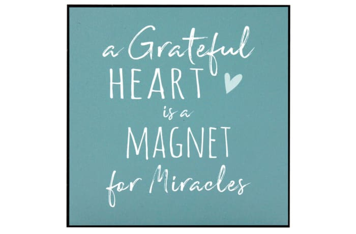 Jenam Wall Art - A Grateful Heart Is A Magnet For Miracles