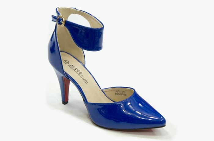 Jessy Fasion - Ankle Strap Heels Blue