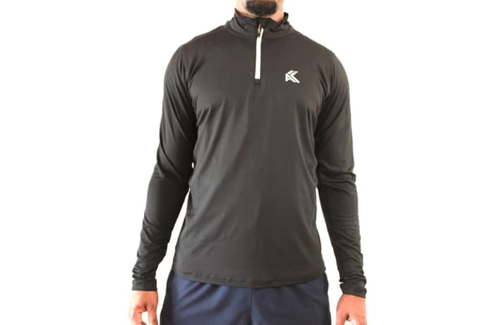 Men's Lightweight 1/4 Zip Top - Black