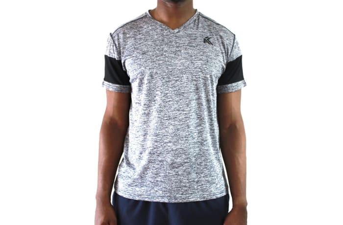 Men's V-Neck T-Shirts - Splinter Grey