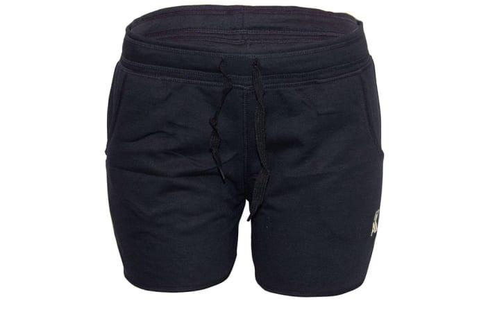 Women's Unbrushed Jogger Shorts - Black