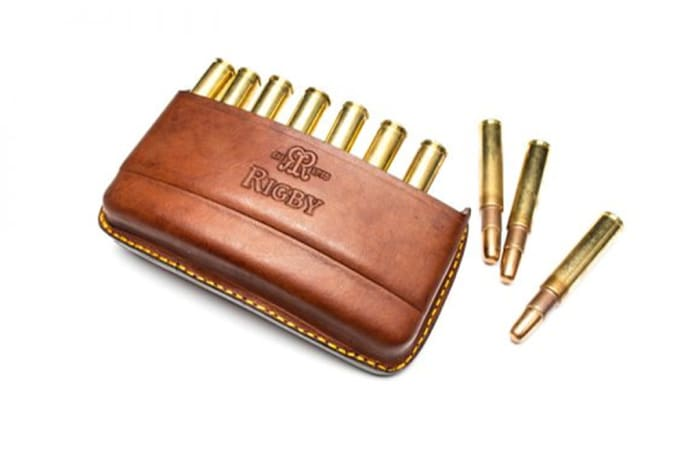 John Rigby & Co Magnum Quick Load Leather Bullet Pouch