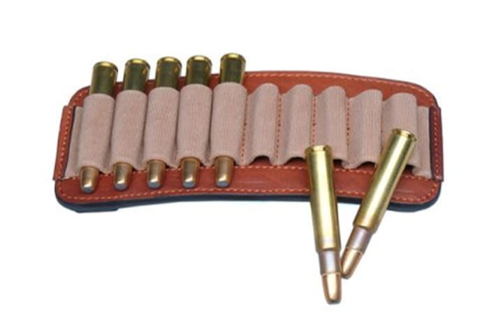 John Rigby & Co Elasticated Leather Bullet Pouch
