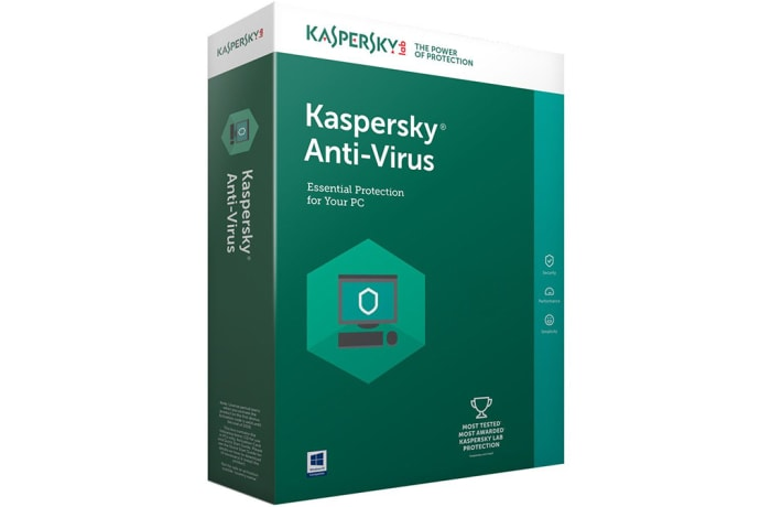 Kaspersky Anti-Virus 2017 - 1 Year / 1 User + 1 Free.