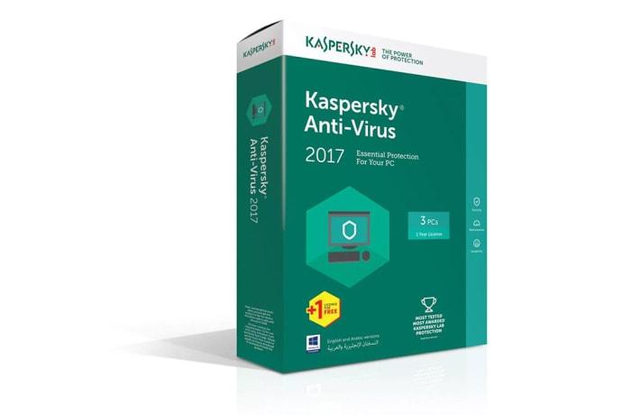 Kaspersky Anti Virus 2017 3 Plus 1 User