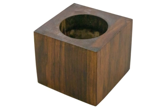Candle Holders - Wooden Cube Candle Stick Holder