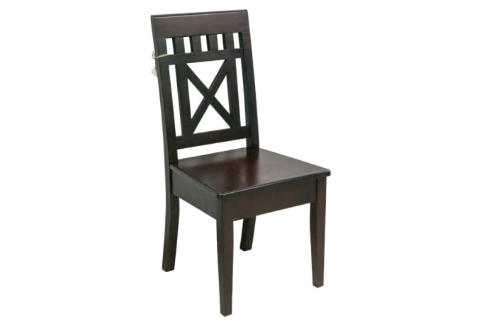 Chairs - Dining chair crossed back slated chair