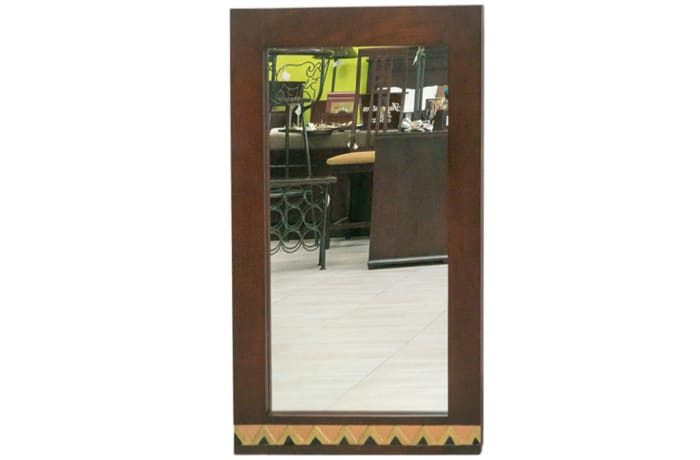 Mirrors - Long Mirror with copper trim