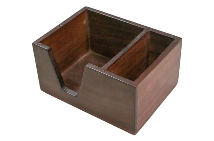 Office Furniture - Wooden Note Box with side compartment