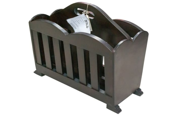 Storage Holders & Racks - Double Magazine Rack with slats