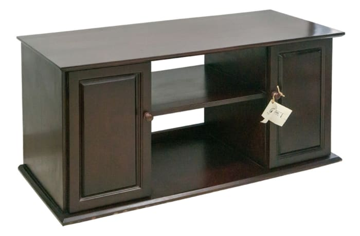 Wood Cabinets - Two Cupboard TV Stand Cabinet
