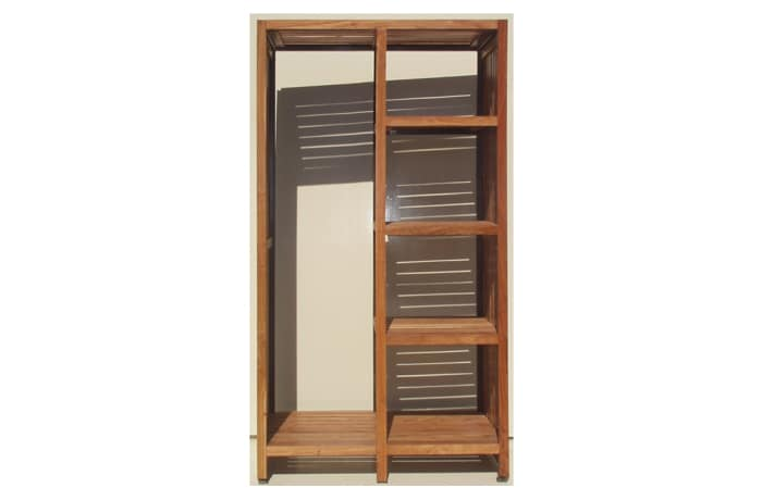 Cupboard Slatted backless Rite Inn wardrobe
