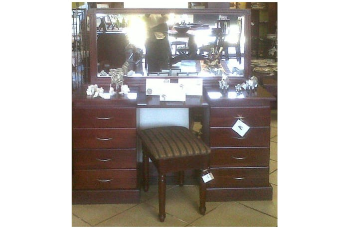 Dressing table 8-drawer & mirror