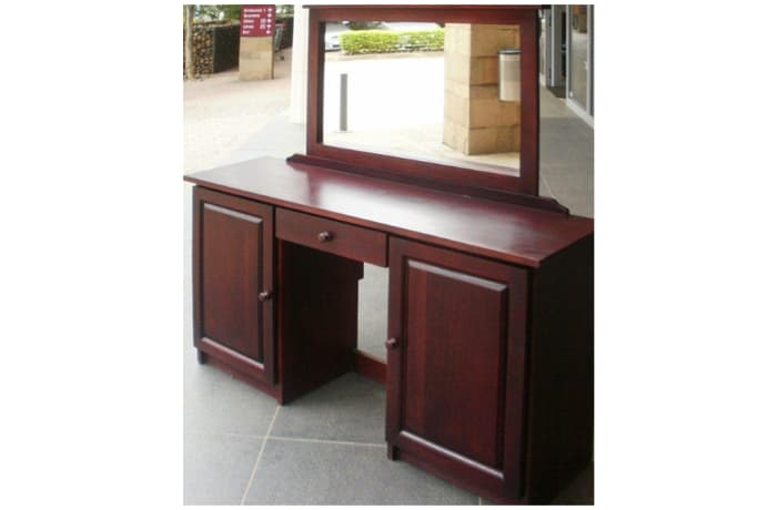 Dressing table with fixed mirror