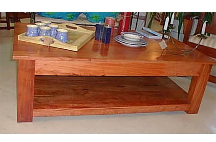 Large solid teak coffee table