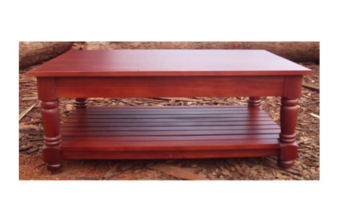 Large coffee table with slats