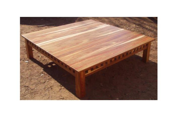 Low large Ikea mukwa coffee table