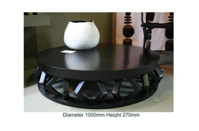 Low round diamond coffee table painted