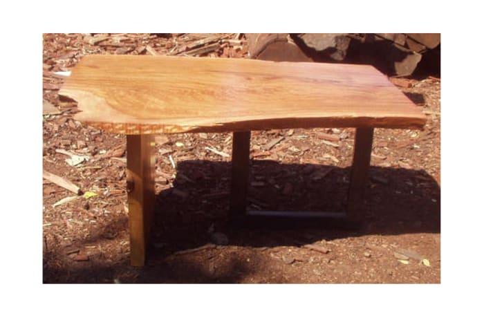 Small log slice coffee table