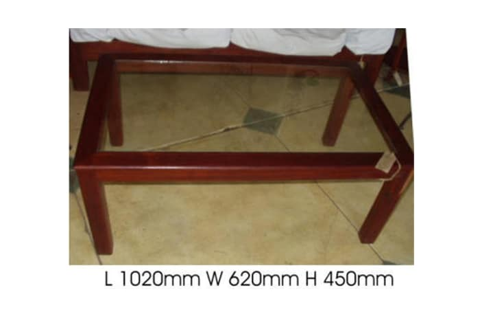 Smallish glass-top Coffee table