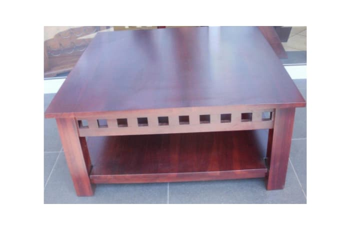 Solid Base Blocks feature coffee table