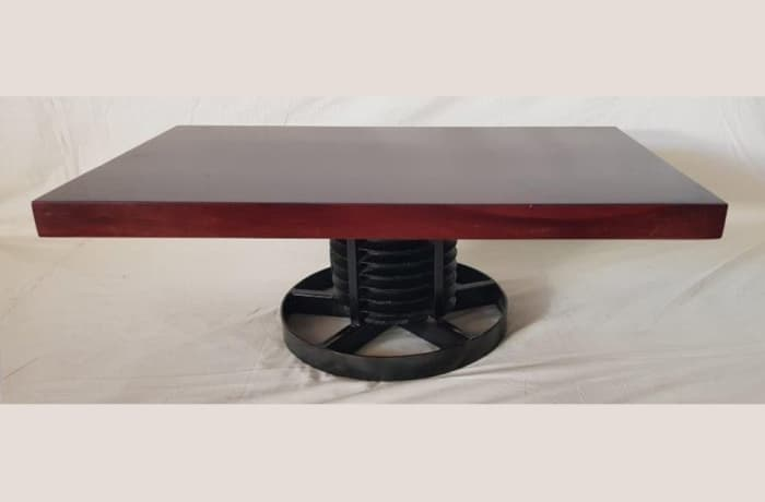Solid Steel Pully Base coffee table