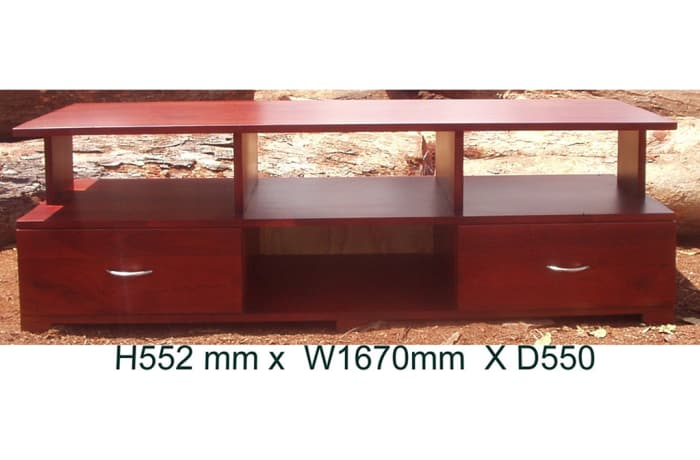 Solid teak low TV cabinet