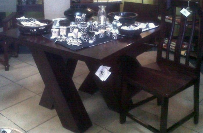 X leg solid wood Dining Table
