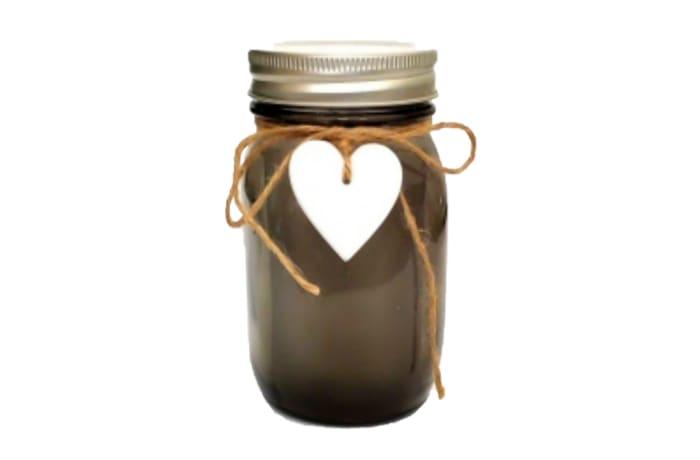 LED Lighted Brown Mason Jar