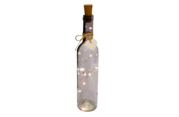 LED Lighted Grey Wine Bottle