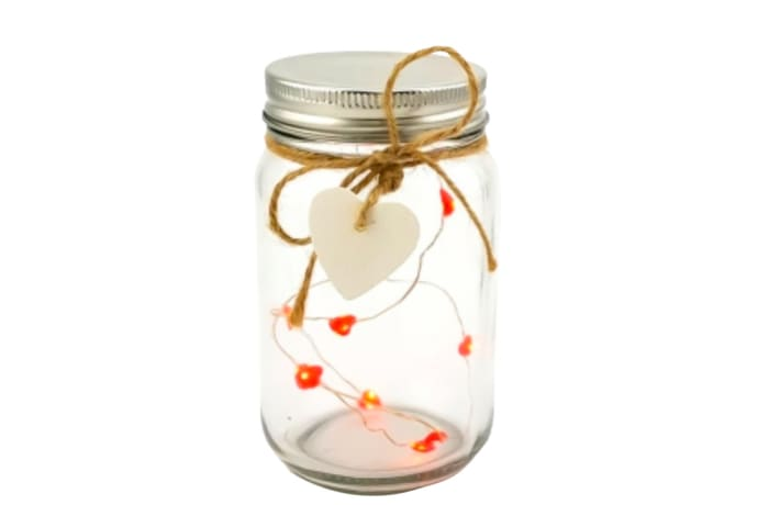 LED Lighted Mason Jar