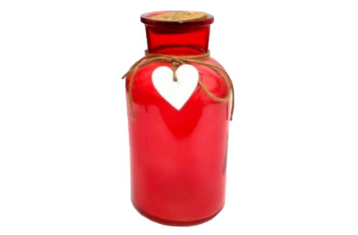 LED Lighted Red Bottle