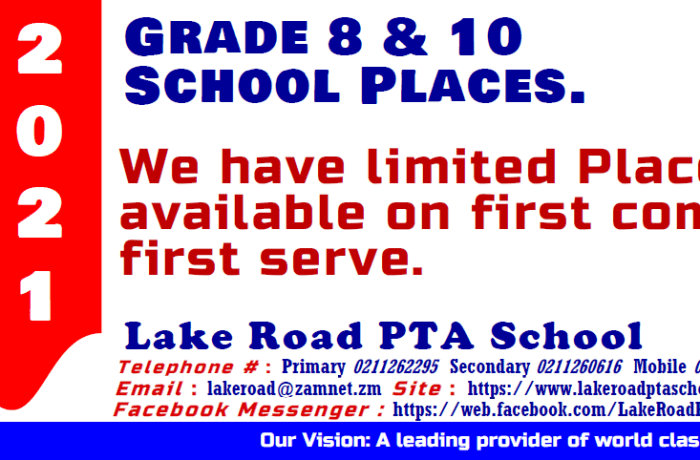 Grade 8 and 10 school places available image
