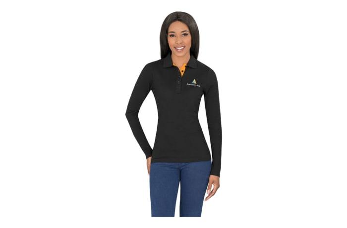 Ladies Long Sleeve Solo Golf Shirt