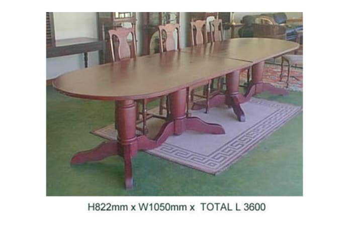 Large oval dining table river club