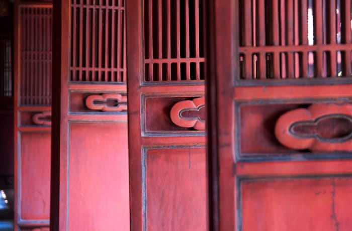 The Work - Red Doors. Hanoi, Vietnam