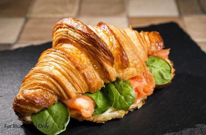 Breakfast - Non Vegetarian - Smoked Salmon Croissant