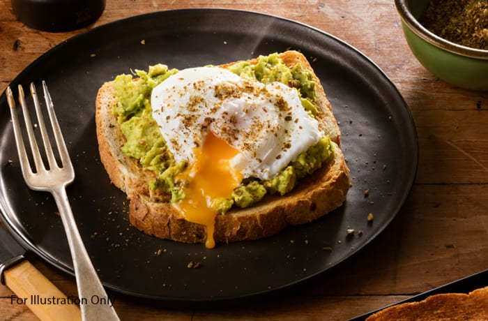 Breakfast - Vegetarian - Smashed Avocado with Poached Eggs (Seasonal)