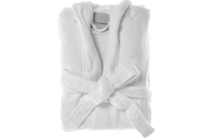 Bath Robes White Microfibre Soft & Comfy