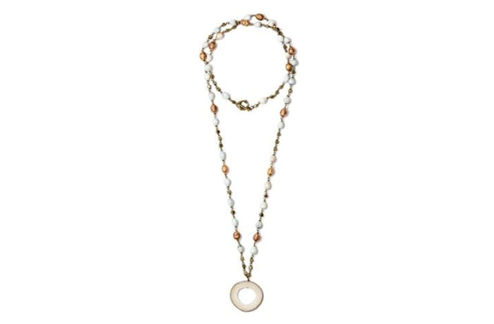 Long vegetable ivory necklace