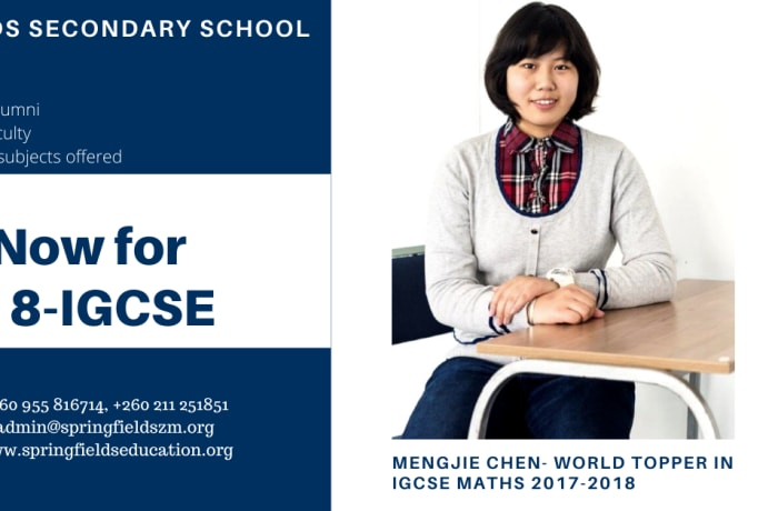 Enrol now for Grade 8 - IGCSE image