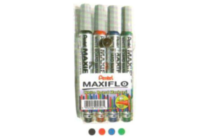 MWL5S-4 White Board Marker Maxiflow Pump-it Bullet Point - Wallet