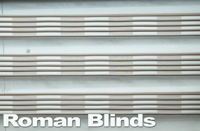 Roman blinds - white grey grey chic and stylish