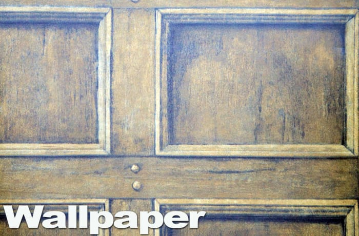 Wallpaper - old wood panel effect