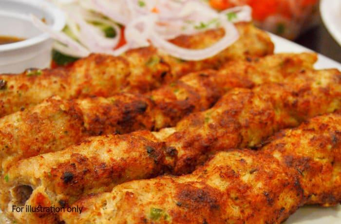 Non-veg Tandoori - Vegetarian Sheekh Kabab