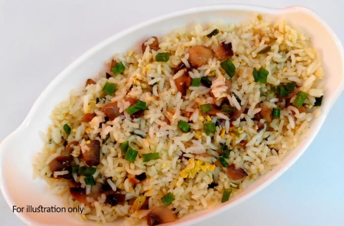 Rice/Noodles -  Egg and Mushroom Fried Rice